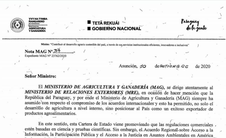 Postura clara del MAG en contra de acuerdo que atenta contra Soberanía Nacional